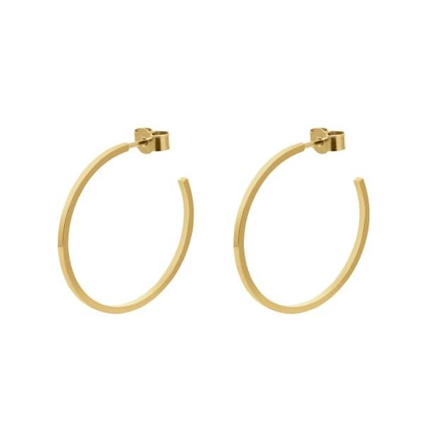 MYIA BONNER Gold Large Hoop Earrings