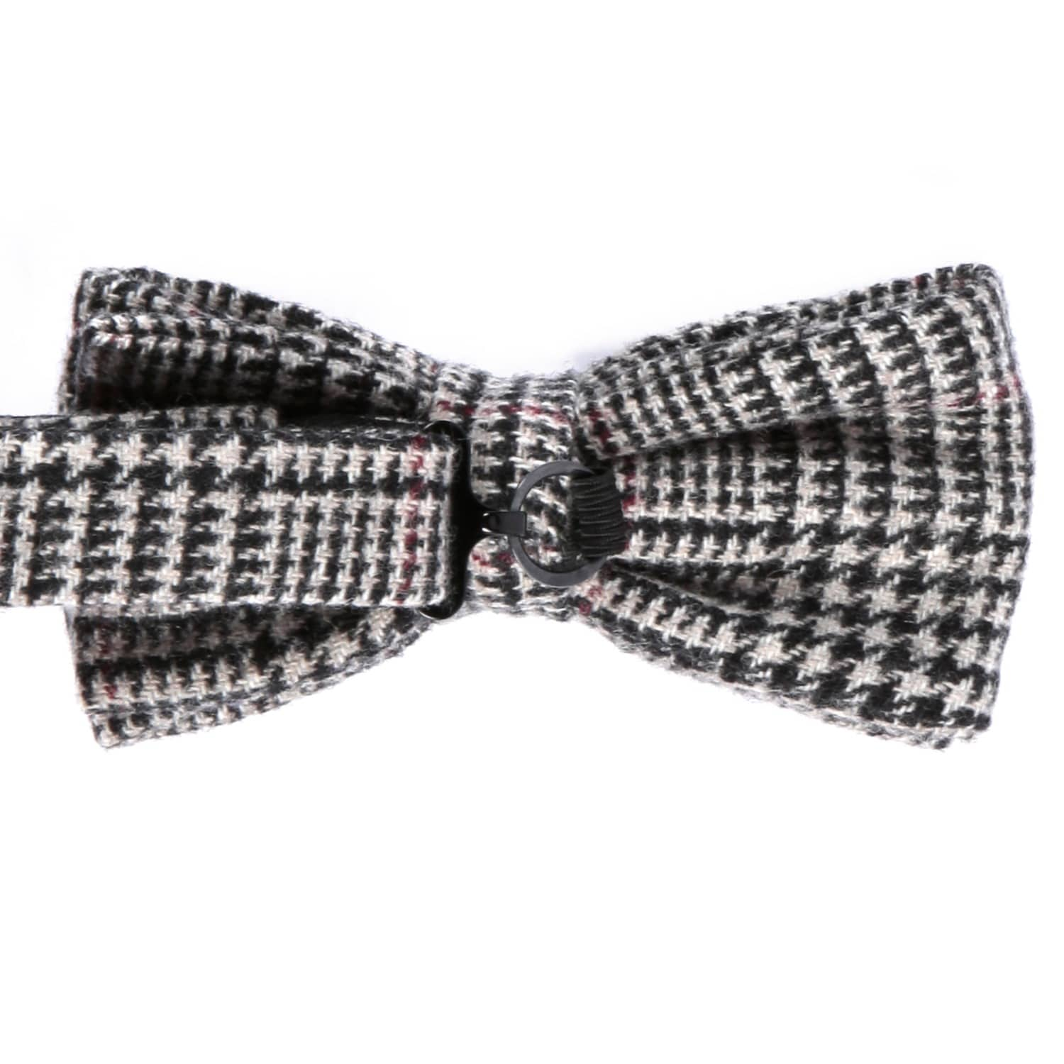 3801676077c2 Prince Of Wales Check Cashmere & Merino Wool Pre Tied Bow | EZRA ...