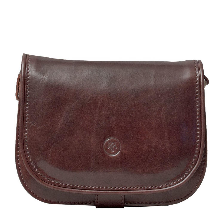 Luxury Italian Leather Women s Saddlebag Purse Medolla Dark Chocolate 3bf8a3f83f1fc