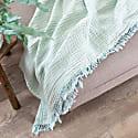 Lagoon Crinkle Cotton Throw image