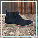 Curito Men's Suede Leather Chelsea Boots - Navy image