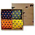 Bamboo Socks Gift Box Orange & Yellow Edition image