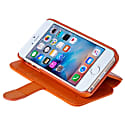 iPhone SE 5 5S Luxury English Leather Phone Wallet with 3 Card Slots in Monarch Orange image