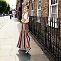 Maxi Skirt In Multi Colour Stripes-Denîmes image