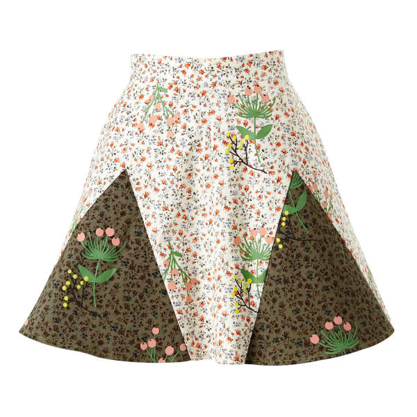 SUPERSWEET X MOUMI Never-Wake-Up Berry Rhonda Skirt in White