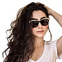 Hollywood 'Glow' - Vintage Cat Eye Sunglasses in Black and Gold image