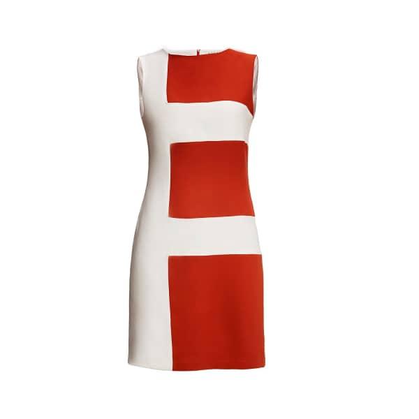 Marie Striped Silk Sleeveless Dress