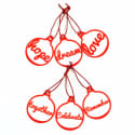 Christmas Decorations Red Words Set image
