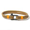 Teahupo'o Leather Bracelet - Brown & Orange image