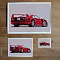 Ferrari F40 Art Print image