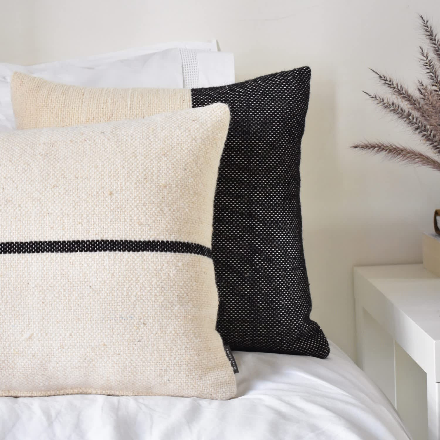 Afer Cushion Cover - Black by Folks & Tales