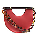 Mallory Top Handle Circle Bag in Saffron Red image