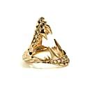 Vampire Bite Ring Gold image