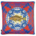 Regale Azure Blue Large Silk Cushion image