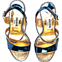 Metallic Effect Timeless Classic Sandals Blue image