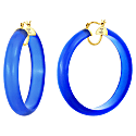 Frosted Lucite Hoops - Blue image