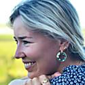Eleanor Huggy Hoop & Green Chloe Cirlces image