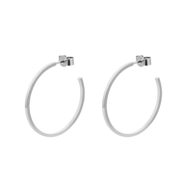 MYIA BONNER Silver Large Hoop Earrings