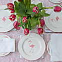 Flamingo Dinner Plate With Rose Pink Rim image