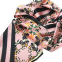 Burmese Toucan Blush Double Sided Long Silk Scarf image