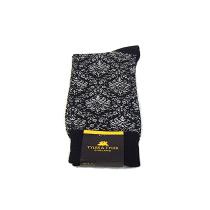 TYLER & TYLER Ambrose Grey & Black Socks