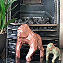 Gorilla Geometric Sculpture - Gus In Metallic Copper image