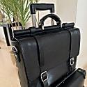 Vintage Attache Case - Black Leather image