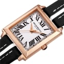Women's Valentina 1064 Swiss Quartz Italian Leather Strap Watch Black image