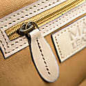 Compact Leather Satchel Bag In Vintage Cognac image