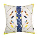 Bateau Blanc Silk & Faux Leather Cushion image