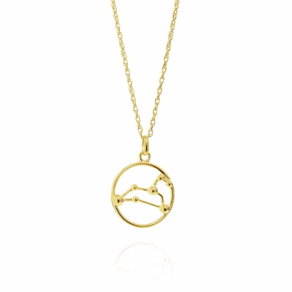 YASMIN EVERLEY JEWELLERY Leo Astrology Necklace In 9Ct Gold