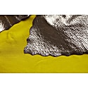 Ailsa Silk Top With Metallic Leather Collar Mustard & Silver image