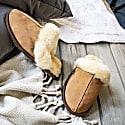 Classic Women's Tan Sheepskin Slippers image
