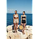 Organic Linen Shorts & Bralette Set - Islandi - Natural Linen image
