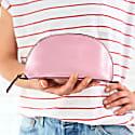 Lunar Metallic Pink Leather Make-Up Bag image