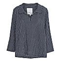 Checkered Smock Blouse With Collar image