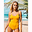Parrot One Piece Swimsuit With Adjustable Straps in Yellow image