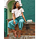 Sustainable Culottes In Turquoise image