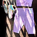 B-Confident Recycled Material Cycling Short - Crocus Petal image
