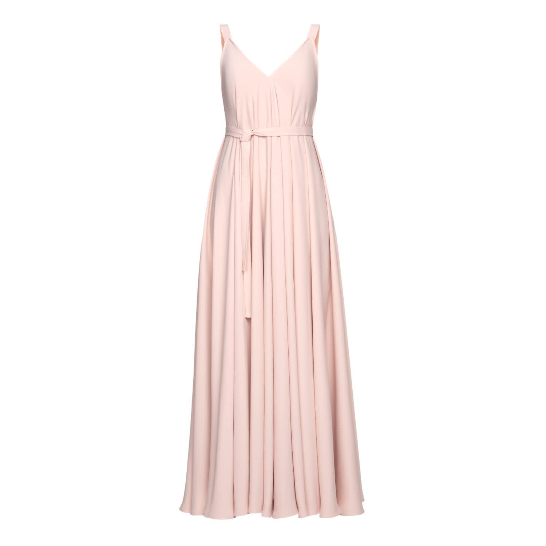 6dc7dd3b1b Notabilia Pastel Pink Extremely Flared Occasion Wedding Maxi Dress ...