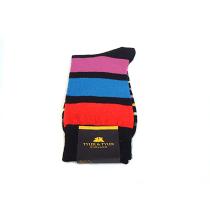 TYLER & TYLER Stripey Black Socks