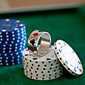 Poker Ring Enamelled Silver image