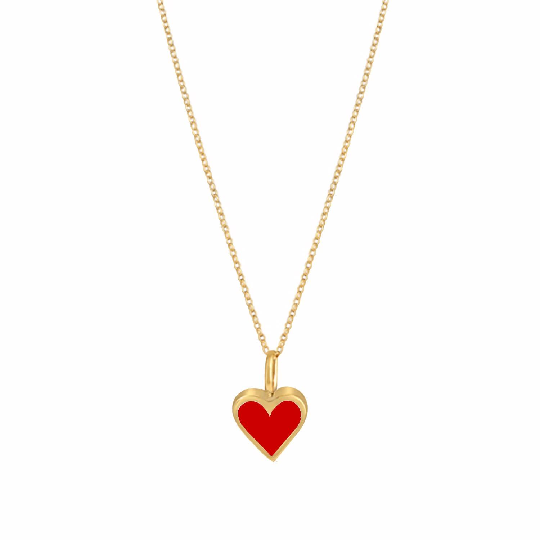 c4863d08d Gold Enamel Heart Necklace Red | Yvonne Henderson Jewellery | Wolf ...