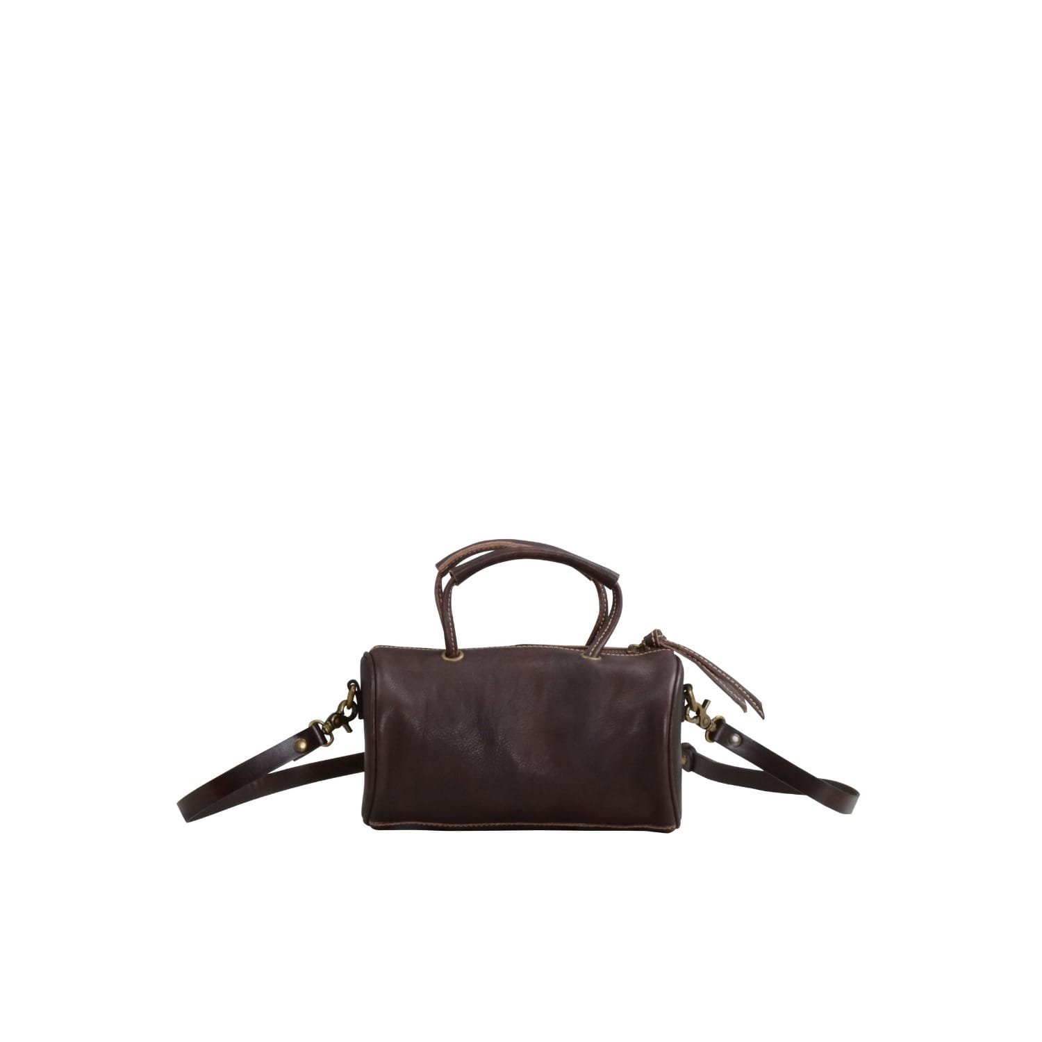 3de195864651 Leather Baguette Crossbody Bag In Dark Brown image