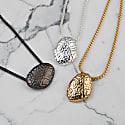 Flooid Pebble Necklace Matt Gunmetal image