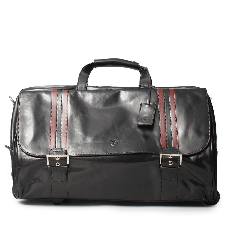 82ac24dbe2 Luxury Italian Leather Men s Duffle Bag Dino M Night Black