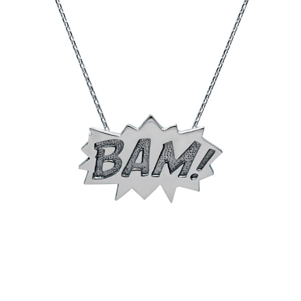EDGE ONLY Bam Pendant Large Long in Silver