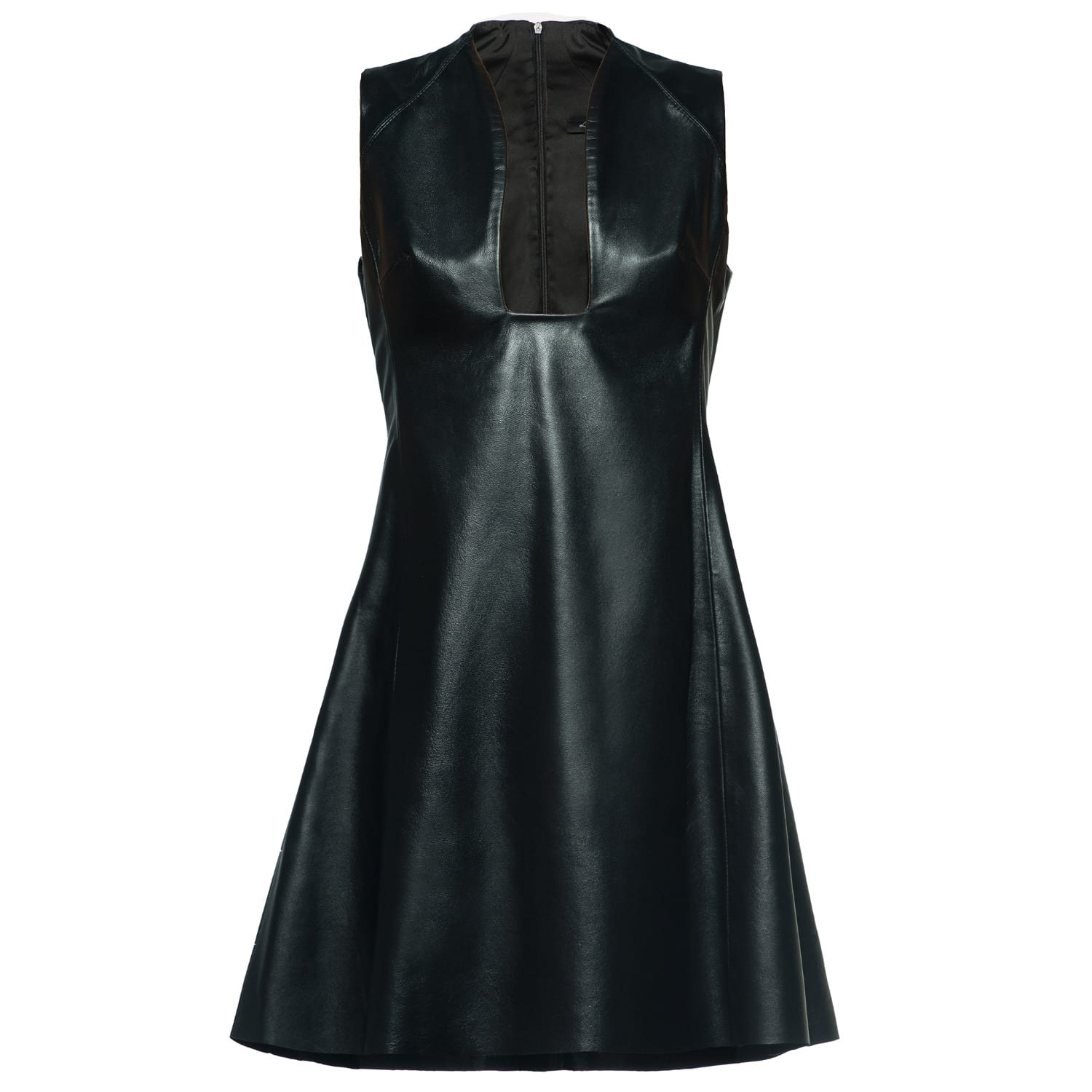8a1c21a54ba Black Leather Mini Dress image