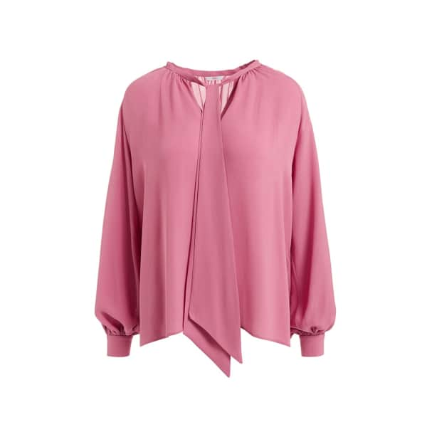 Wtr  VALENTIN PINK SCARF SILK BLOUSE