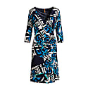 Abstract Print Crossover Dress By Conquista Fashion image
